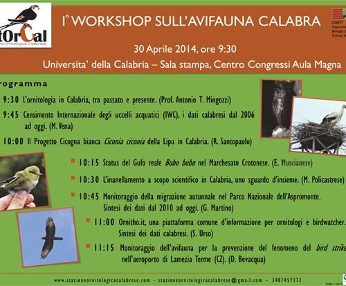 Microsoft PowerPoint - Locandina Workshop_avifauna_Calabra_VERS_